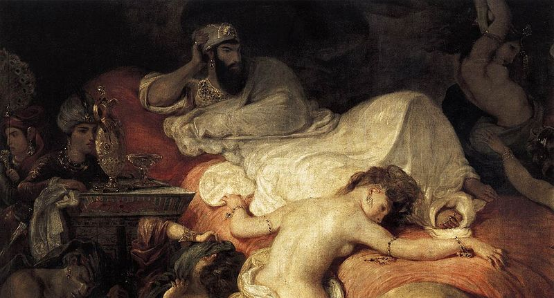 Eugène Delacroix - The Death of Sardanapalus (detail)